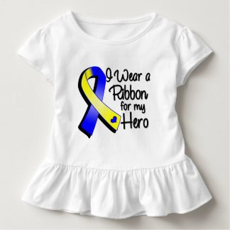 I Wear a Blue and Yellow Ribbon For My Hero Tshirt