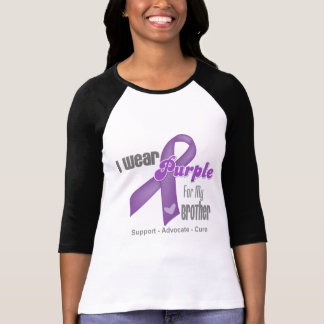 I Wear a Purple Ribbon For My Brother Tshirts