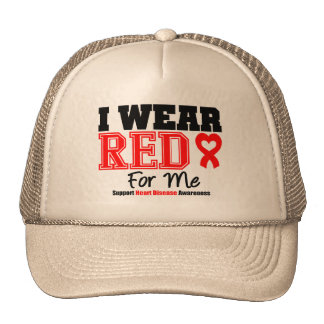 I Wear a Red Ribbon For Me Trucker Hats
