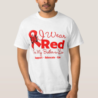 I Wear a Red Ribbon For My Brother-in-Law Tshirts