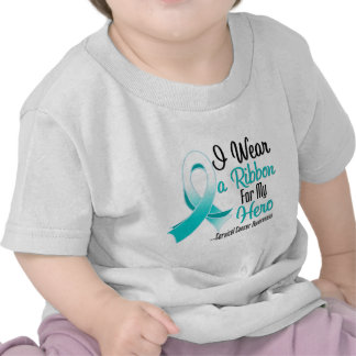 I Wear a Ribbon For My Hero - Cervical Cancer T-shirt