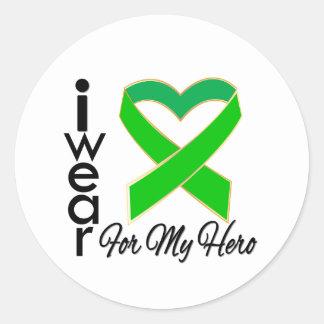 I Wear a Ribbon For My Hero SCT/BMT Survivors Round Sticker