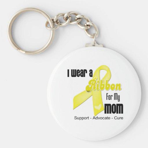 I Wear a Ribbon For My Mom - Sarcoma Key Chains