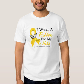 I Wear a Ribbon HERO Childhood Cancer Tshirts