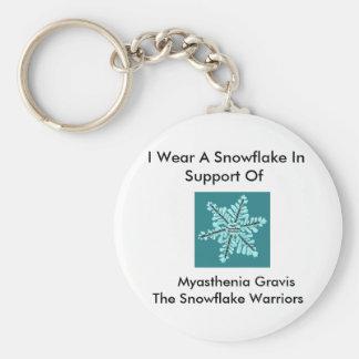 I wear a Snowflake/Myasthenia Gravis Awareness Key Ring