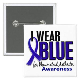 I Wear Blue Awareness 10 Rheumatoid Arthritis RA 15 Cm Square Badge