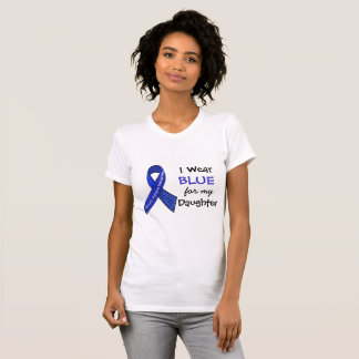 I Wear Blue e for my Daughter CFS Shirt