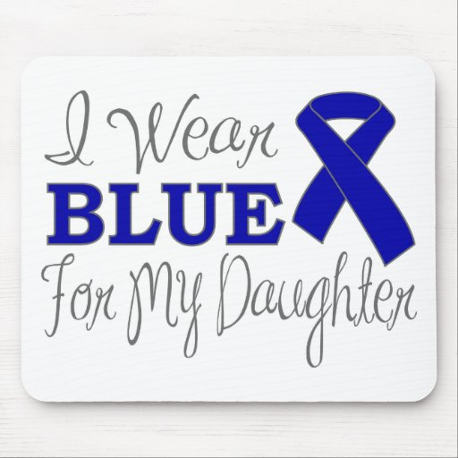 I Wear Blue For My Daughter (Blue Ribbon) Mousepad