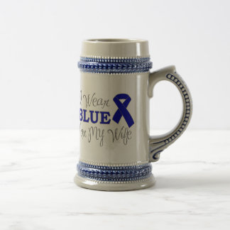 I Wear Blue For My Wife (Blue Ribbon) Mugs