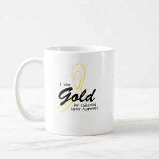I Wear Gold Childhood Cancer Awareness support Coffee Mug