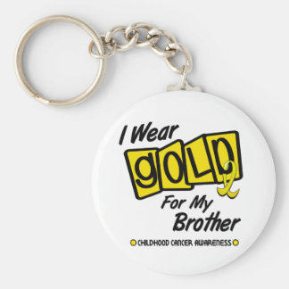 I Wear Gold For My BROTHER 8 Key Ring