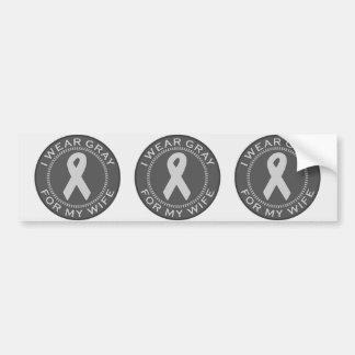 I Wear Gray For My Wife Bumper Sticker