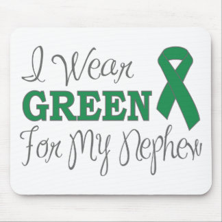 I Wear Green For My Nephew (Green Ribbon) Mouse Pad