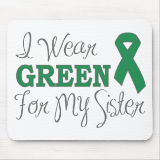 I Wear Green For My Sister (Green Ribbon) Mousepads