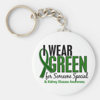 I Wear Green For Someone Special10 Kidney Disease Key Ring