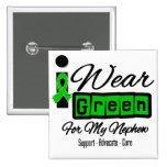 I Wear Green Ribbon (Retro) - Nephew Buttons