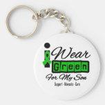 I Wear Green Ribbon (Retro) - Son Keychains