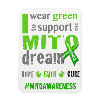 I wear green to support the Mito dream Magnet