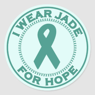 I Wear Jade For Hope Classic Round Sticker