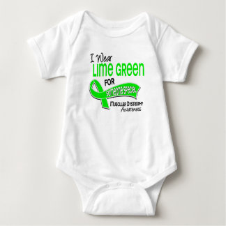 I Wear Lime 42 Someone Special Muscular Dystrophy Baby Bodysuit