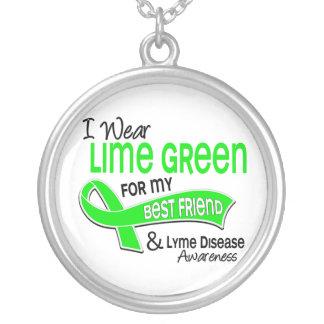 I Wear Lime Green 42 Best Friend Lyme Disease Pendant