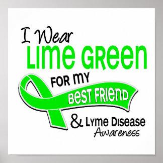 I Wear Lime Green 42 Best Friend Lyme Disease Poster