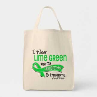 I Wear Lime Green 42 Grandfather Lymphoma Canvas Bags