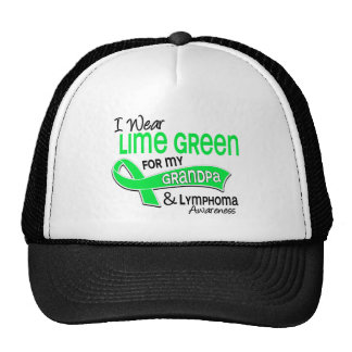 I Wear Lime Green 42 Grandpa Lymphoma Cap
