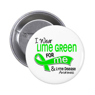 I Wear Lime Green 42 Me Lyme Disease 6 Cm Round Badge