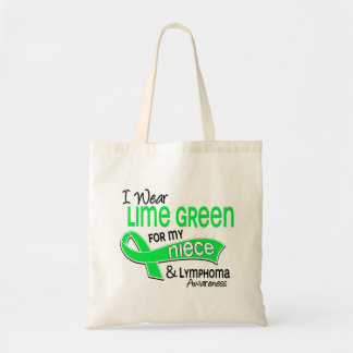 I Wear Lime Green 42 Niece Lymphoma Canvas Bags