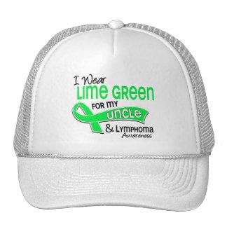 I Wear Lime Green 42 Uncle Lymphoma Trucker Hat