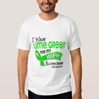 I Wear Lime Green 42 Wife Lyme Disease T Shirt