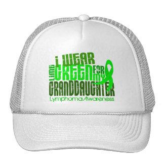 I Wear Lime Green For Granddaughter 6.4 Lymphoma Trucker Hat