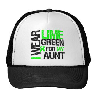 I Wear Lime Green For My Aunt Lymphoma Cap