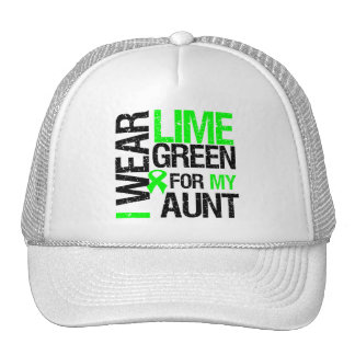 I Wear Lime Green For My Aunt Lymphoma Trucker Hats