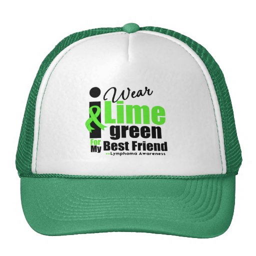 I Wear Lime Green For My Best Friend Mesh Hat