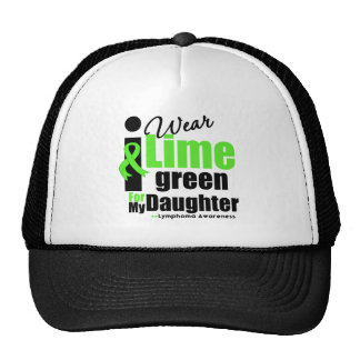 I Wear Lime Green For My Daughter Mesh Hat