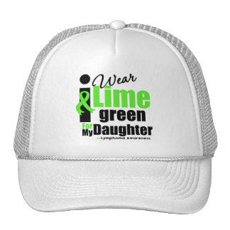 I Wear Lime Green For My Daughter Hat