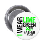 I Wear Lime Green For My Father-in-Law Lymphoma 6 Cm Round Badge