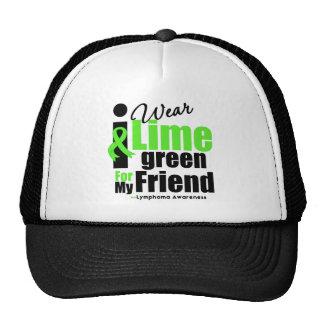 I Wear Lime Green For My Friend Trucker Hats