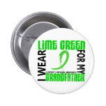 I Wear Lime Green For My Grandfather 46 Lymphoma Buttons