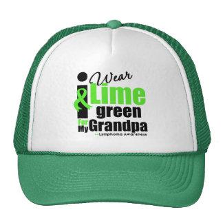 I Wear Lime Green For My Grandpa Mesh Hat