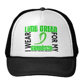 I Wear Lime Green For My Grandson 46 Lymphoma Trucker Hat