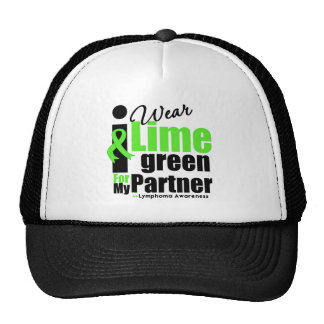 I Wear Lime Green For My Partner Mesh Hats
