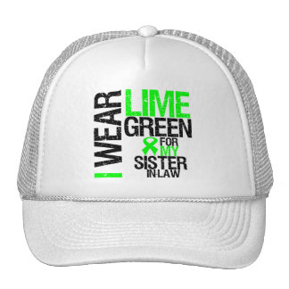 I Wear Lime Green For My Sister-in-Law Lymphoma Cap