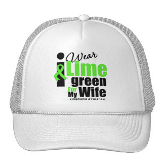 I Wear Lime Green For My Wife Mesh Hat
