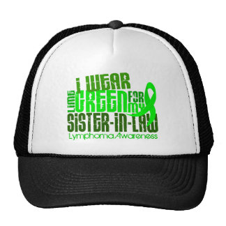 I Wear Lime Green For Sister-In-Law 6.4 Lymphoma Trucker Hat