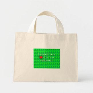 I wear my heart on my sleeves Green Bag