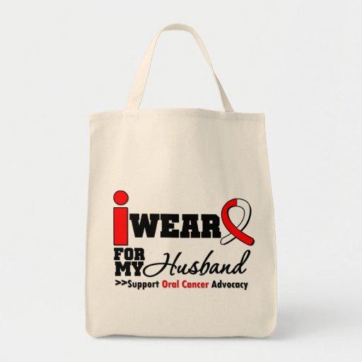 I Wear Oral Cancer Ribbon For My Husband Bag