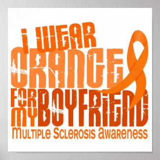 I Wear Orange Boyfriend 6.4 MS Multiple Sclerosis Print